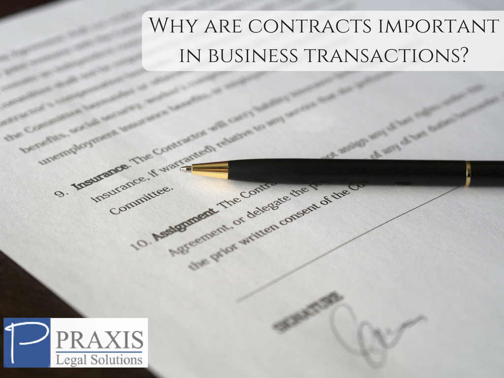 Why are contracts important in business transactions Ocean Grove, NJ