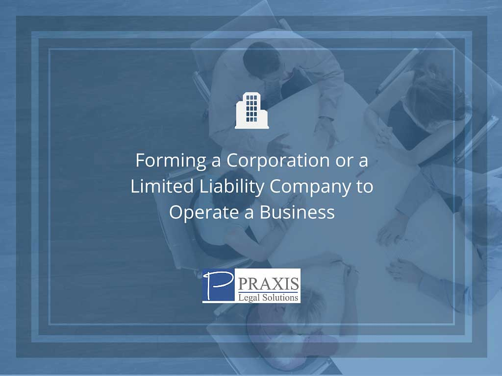 Forming a corporation or a limited liability company to operate a business Ocean Grove, NJ