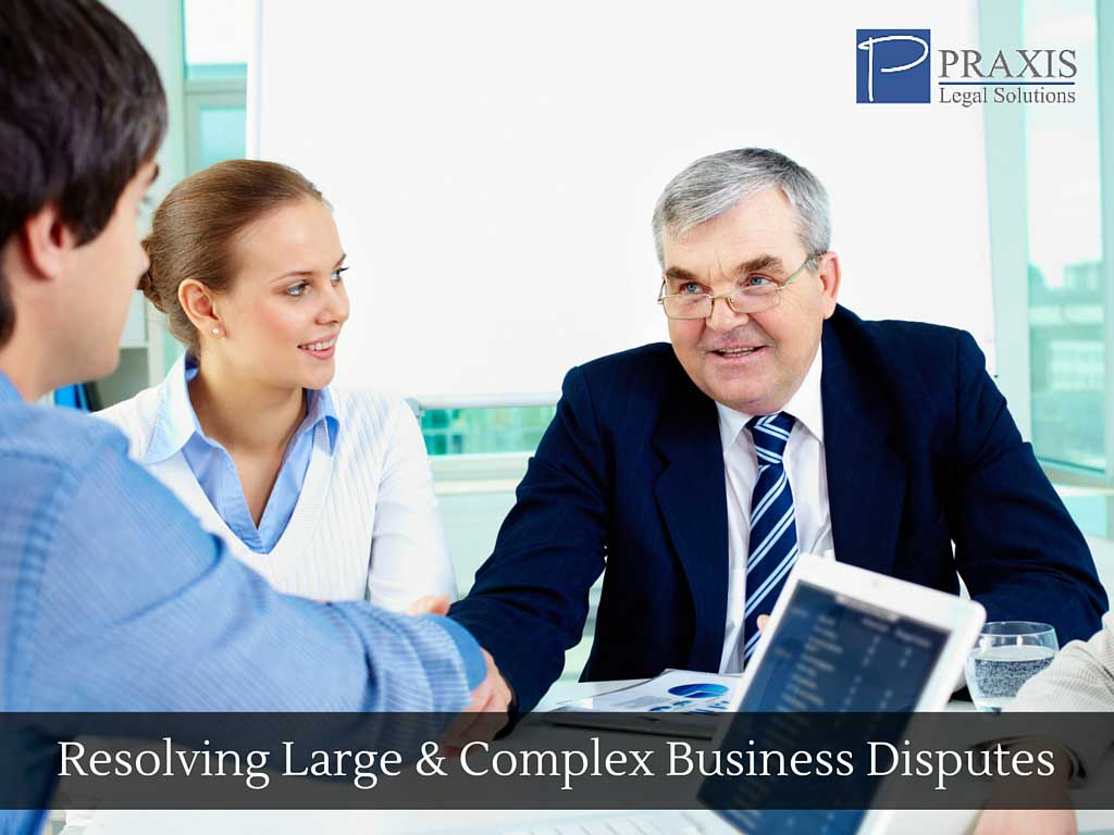 Resolving Large and Complex Business Disputes